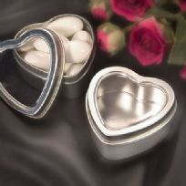 Silver Heart Mint Tin